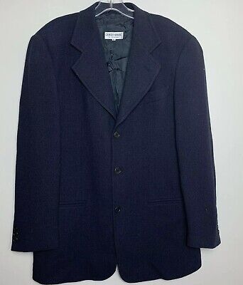 Armani collezioni Mens Suit Jacket Navy Blue Size 40 (Size Large) Made In Italy