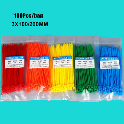 Tool Releasable Line Finishing Cord Strap Zip Bundled Nylon Wire Cable Ties