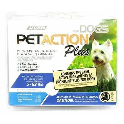 PETAction Plus for Dogs 5-22 lbs