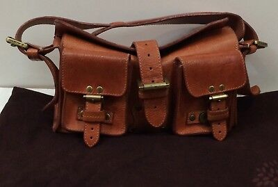 4f521217a9 MULBERRY BLENHEIM Women s Authentic Oak Natural Tan Leather Small Shoulder  Bag