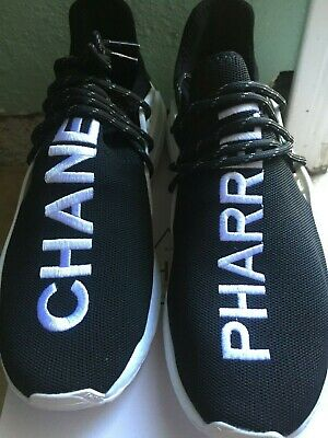 new style dc3bc d40d8 ADIDAS X CHANEL x Pharrell William core black size 10