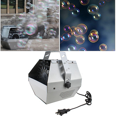 16 Wand Automatic Bubble Maker Machine Auto Blower For DJ Deluxe Party Kids Fun