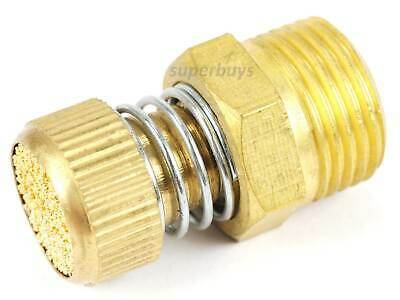 "3/8"" NPT Adjustable Spring Pneumatic Silencer Brass Flow Muffler Exhaust Valve"