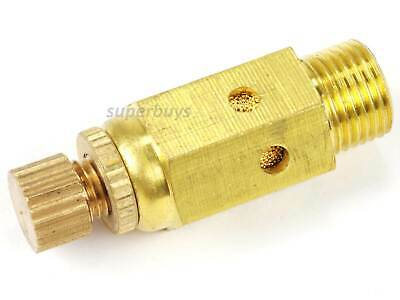 "1/8"" Reinforced Pneumatic Adjustable Brass Silencer Muffler Exhaust Air Valve"