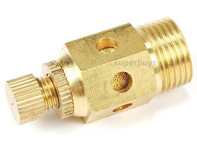 "3/8"" Reinforced Pneumatic Adjustable Brass Silencer Muffler Exhaust Air Valve"