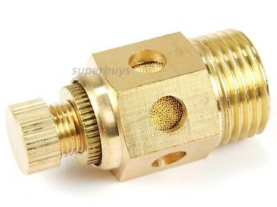 "1/2"" Reinforced Pneumatic Adjustable Brass Silencer Muffler Exhaust Air Valve"