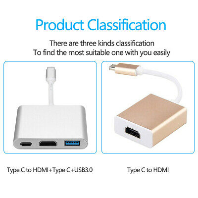 Besiuni USBC 3.1USB TypeC Converter to USB3.0/HDMI/TypeC Female Charger Adapter