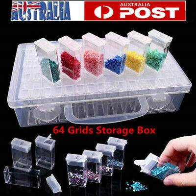64 Grids Storage Box Diamond Embroidery Art Painting Nail Accessory Display Case