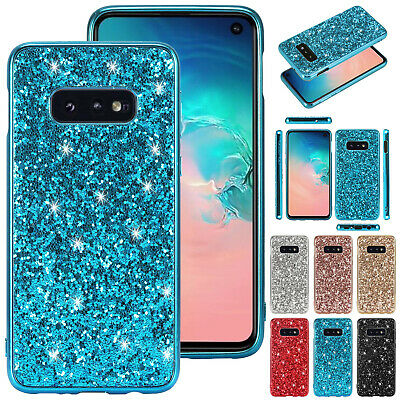 For Samsung S10 5G S10 Plus S10e Bling Glitter Shockproof Rubber Back Case Cover