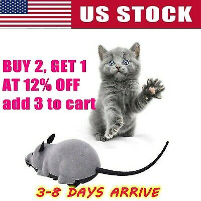 Pet Cat Mice Mouse Remote Control Toy Prank Rat Mock Fake Wireless RC Cute Gifts