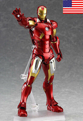 US! Marvel The Avengers Iron Man Max Factory Figma 217 PVC Action Figure Toy