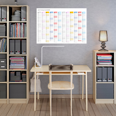 2019 Wall Planner Large Horizontal Poster Calendar in A2 size