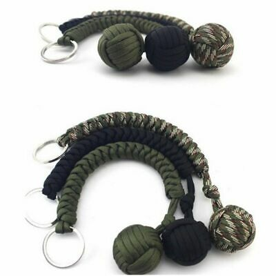Paracords Monkey Fist Paracord Keychain Chain Keyring Steel