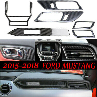 Para Ford Mustang 2015 2016 2017 2018 Fibra Carbono Interior Set Decoración Trim