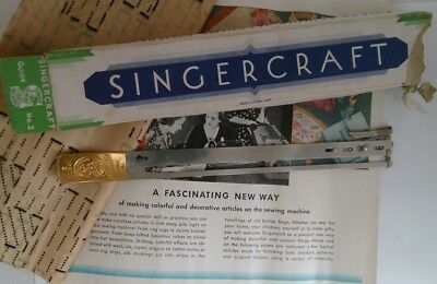 singercraft guide vintage sewing machine accessory 120987 rugmaking fancywork