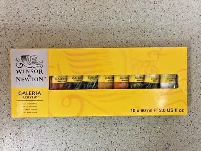 Winsor & Newton Galeria Acrylic Paint 10 x 60ml Set