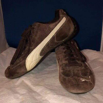 1553c26fbe0 Puma Speed Cat Women s Shoes size 6 Java Brown suede   Winter White