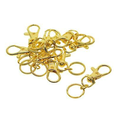 10x Lobster Swivel Clasps Trigger Clips Snap Hooks Bag Key Ring DIY Findings