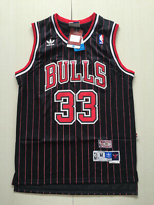 New Chicago Bulls  33 Scottie Pippen Retro Red stripes Basketball Jersey 3abd1583c