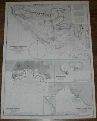 Nautical Chart No. 98 Plans on the South Coast of Cuba including Puerto Casilda