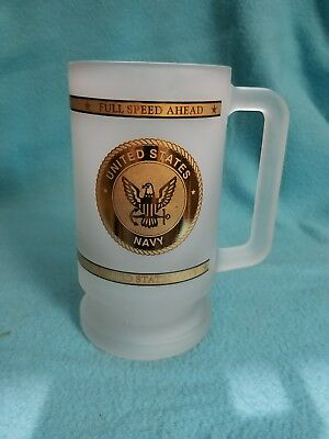 United States navy frosted beer mug