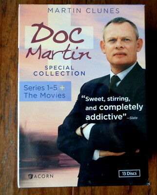 New & Sealed Doc Martin Special Collection: Series 1-5 + The Movies DVD 13 discs