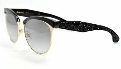 66d6d17a773e MIU MIU SUNGLASSES SMU 54Q 1BO-0A7 Black Pave Rock Gold   Gray Gradient Lens