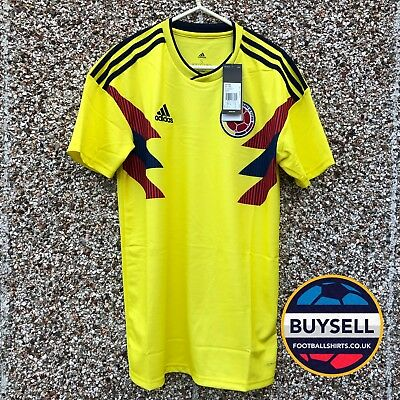 2f5083078 Authentic Adidas Colombia World Cup 2018 2019 Home Football Shirt Columbia M