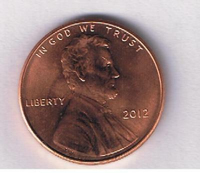 2012-P Lincoln Shield One Cent Penny Coin Nice AU Condition