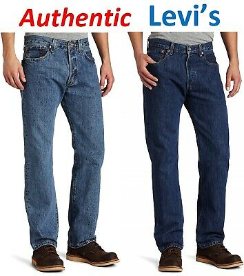 45718f7db93 Levis 505 Original Fit Men Stretch Jeans Straight Leg Zip Fly Cotton Levi's  TAGs