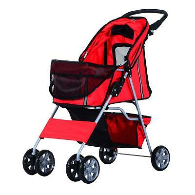 Stroller Pet Travel System Denim Jogger Carry Wheels Jogging Red 75L 45W 97H Cm