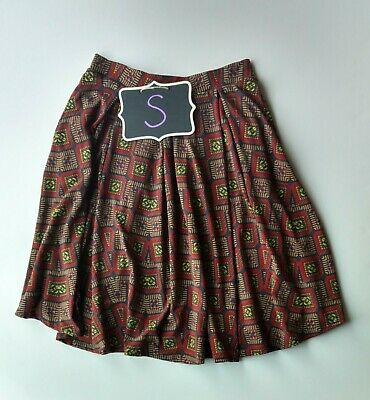 Lularoe Madison Skirt Nwot Size S Charcoal And Brown Aztec Print Clothing, Shoes & Accessories Women's Clothing