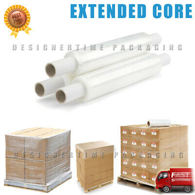 18 x 200m Extended Core Clear Pallet Stretch Shrink Wrap Rolls Parcel Packing