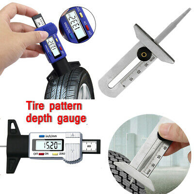 Meter Measure Tool Tread Depth Gauge Car Digital Tires Caliper Thickness Gauges