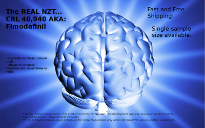 Real NZT - Flmodafinil CRL 40, 940 50mg sample for research ONLY floro modafinil