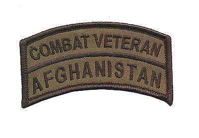 OD Combat Veteran - Afghanistan Tab -Operation Enduring Freedom - US Army - USMC
