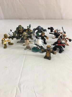 """STAR WARS MINI 2"""" Figures By Hasbro Assorted Lot Of 12 Figures"""
