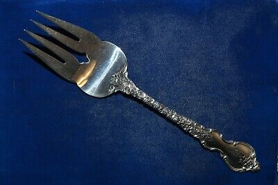 "International Du Barry Sterling Silver Cold Meat Fork - 8 7/8"" - 103g - No Mono"
