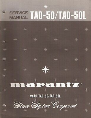 Marantz TAD-50 / TAD-50L Original Service Manual. Money Back Guaranty
