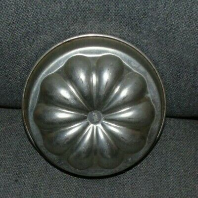 Vintage French  Jelly Blancmange Gateau Cake Mold Tin  Stamped Made In France