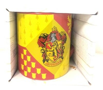 Harry Potter Gryffindor House Crest Ceramic Mug, 14 ounces New In Box Wizard