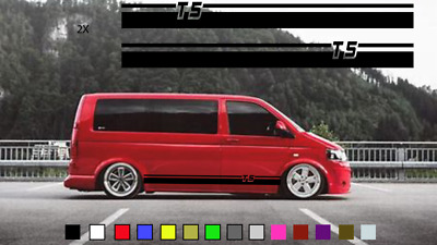 VW Transporter T5 Racing-side-stripes-flags-vinyl-decal-stickers-graphics