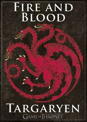 Game of Thrones House of Targaryen Logo Fire And Blood Refrigerator Magnet NEW