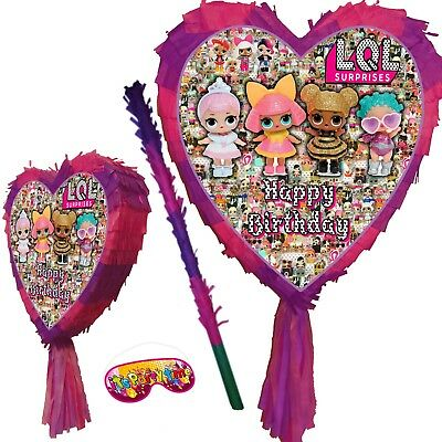 Surprise Birthday Heart Pinata Party Egg LOL LQL LOL's Dolls Sister LIL bling