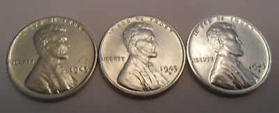 1943 P D S Steel Wheat Cent Penny Set *AU - LIGHTLY CIRCULATED*  *FREE SHIPPING*