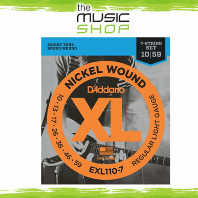 D'Addario EXL110-7 7 String Electric Guitar Strings - 10-59 - Nickel - Daddario