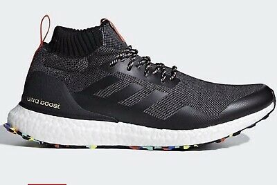 san francisco 4b042 76a4c USED Mens ADIDAS ULTRA BOOST MID BLACK MULTI COLOR SOLE SZ 10 Free SHIP  RUNNING