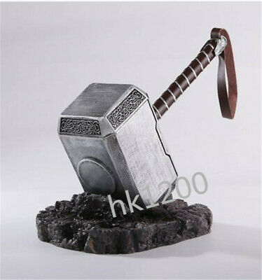 Hot 1:1 THE Avengers Full Solid Thor Hammer /Stand Base Replica Cosplay Prop