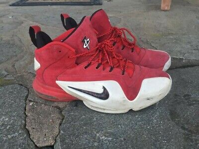 sale retailer 0445b 2f7f2 Men s Nike Zoom Penny VI 6 University Red Suede Basketball Shoes Size 10