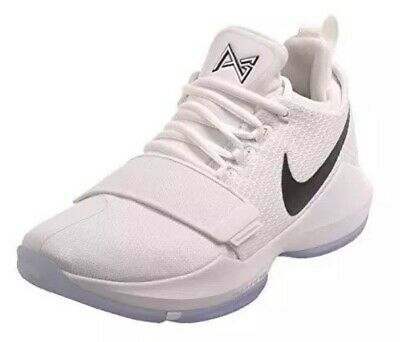 e09d6caeda94 NWT Nike PG1 Paul George Checkmate Black While Hoops Shoes - 878627-100 - SZ